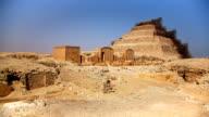 Stepped Pyramid of Djoser near Cairo Egypt video
