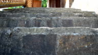 Steps from a stone. video