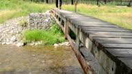 Steps on Small Pedestrian Bridge video