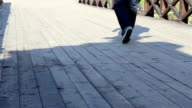 Steps on Wooden Bridge video