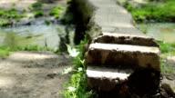 Steps over Footbridge video