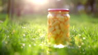 Stewed fruits in a jar video