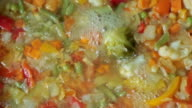 Stewing vegetables in a wok video