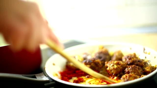 Stir fry cooking. video
