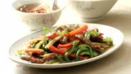 Stir-fried dishes video