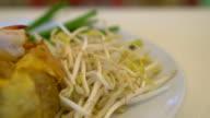 stir-fried noodle with shrimp - pad thai video