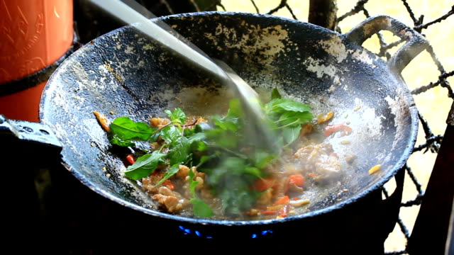 Stir-fried Pork with Holy Basil Thai food video