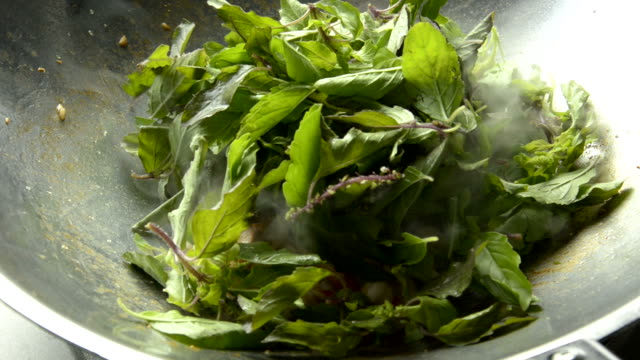 Stir-Fried Seafood with Basil Leaves video
