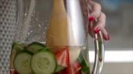Stirring a healthy summer drink video