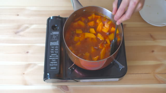 stirring butternut squash risotto video
