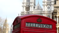 St.Margarets church in London with the telephone booth video