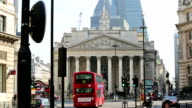 Stock exchange City of London. Bank of England square video