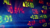 stock exchange data board loop video