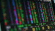 Stock Exchange Data Display on laptop video