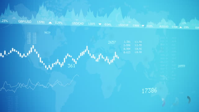 Stock Market and Forex Graphic Chart Background video