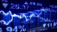 stock market blue loopable business background video