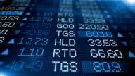 Stock Market Board - Blue Animation video