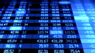 Stock Market board moving. Blue color. Looped animation. HD 1080. video
