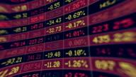 Stock Market board moving. video