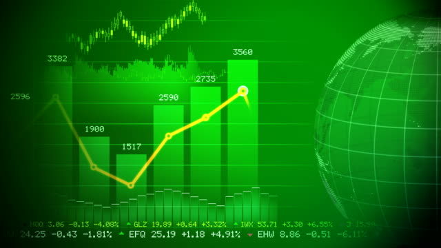 Stock market concept video