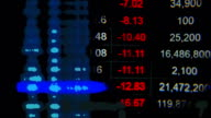 Stock market data on a monitor. Finance data concept video