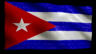 Stock Market Flag of Cuba - Alpha and Loop video