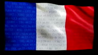 Stock Market Flag of France - Alpha and Loop video