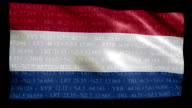 Stock Market Flag of Holland - Alpha and Loop video