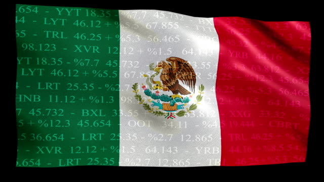 Stock Market Flag of Mexica - Alpha and Loop video