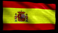 Stock Market Flag of Spain - Alpha and Loop video