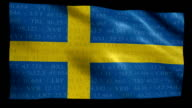 Stock Market Flag of Sweden - Alpha and Loop video