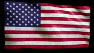 Stock Market Flag of USA - Alpha and Loop video