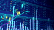 Stock market indexes going up, down, financial crisis. Economic growth, decline video