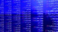 Stock market panel, tilt, shine video