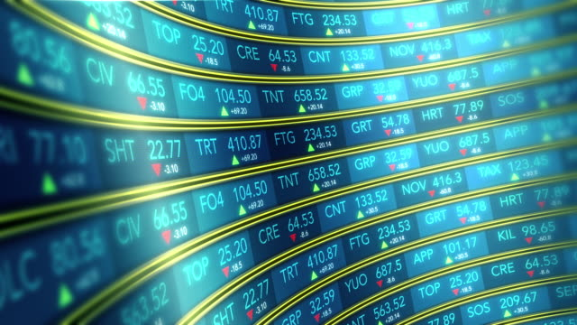 Stock Market Ticker 4k video