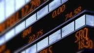 4K Stock market ticker, Time Square zoom shoot video