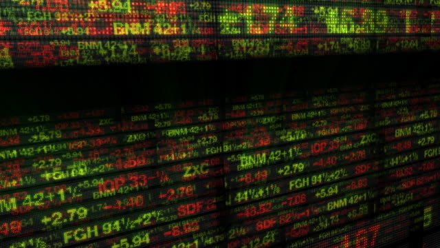 Stock Market Tickers & Financial Data 3D video