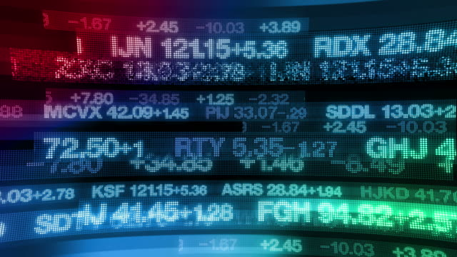 Stock Market Tickers - Digital Data Display Background video