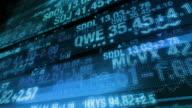 Stock Market Tickers - Digital Data Display Background video