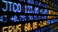 Stock Market Tickers. Loopable. Blue and Orange. video