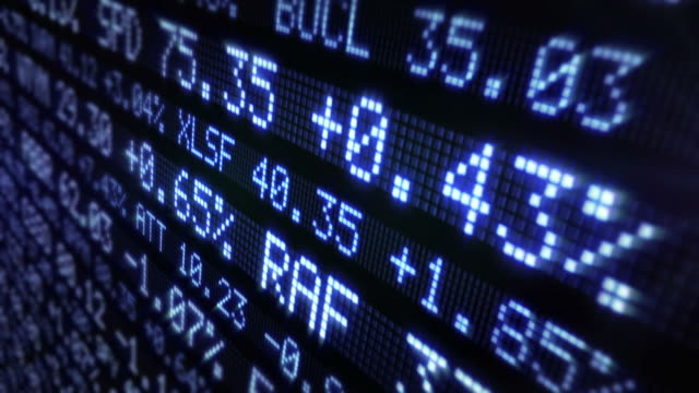 Stock Market Tickers. Loopable. Blue. video
