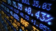 Stock Market Tickers. Loopable. Blue-Orange and Red-Green. video