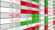 Stock Market Tickers. Loopable. White. video