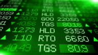 Stock Market Wall - Green video