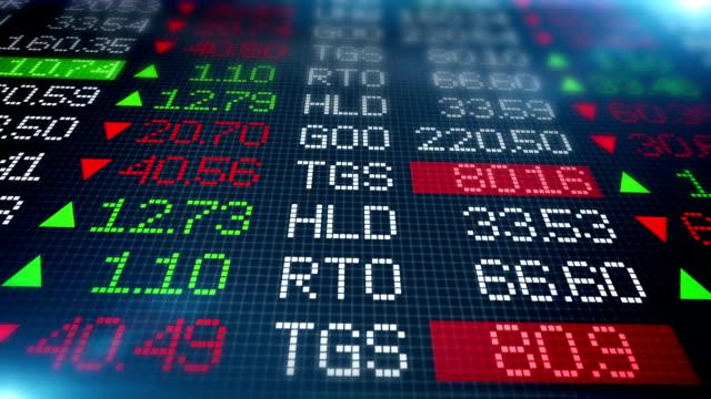 Stock Market / Wall Street ticker video