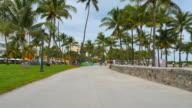 Stock video Ocean Drive Miami Beach video