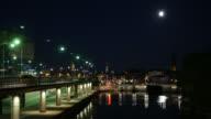 4K: Stockholm Central Bridge at night video
