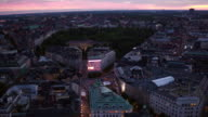 AERIAL: Stockholm city as the sun rises video