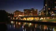 4K: Stockholm city bridge at night video