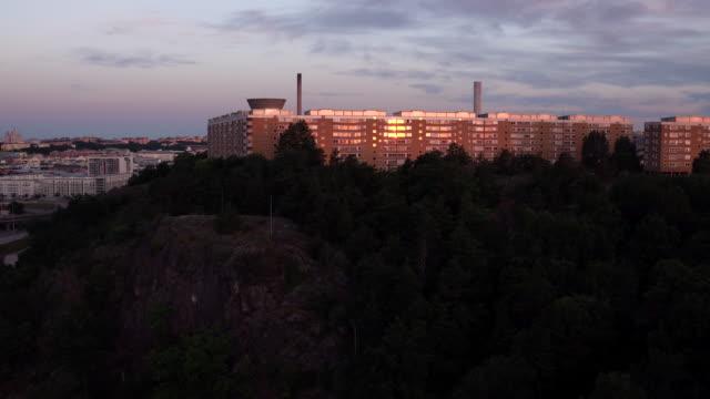 AERIAL: Stockholm city, Henriksdalsringen video
